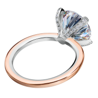 Mark Patterson Platinum Over 18K Rose Gold Diamond Semi-Mount Engagement Ring (Setting Only)