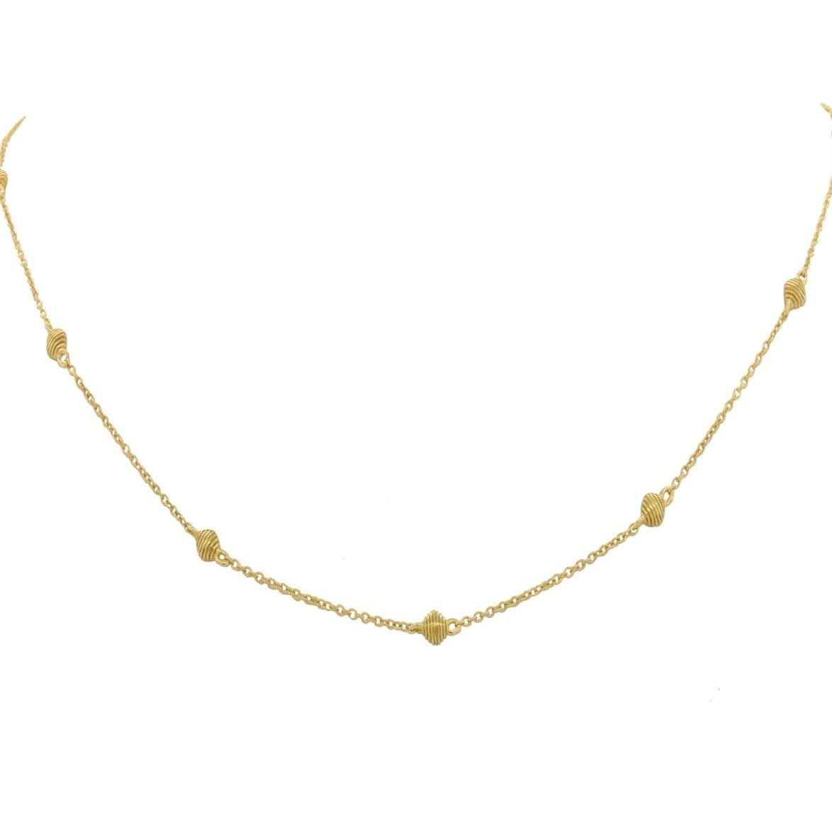Sloane Street 18K Yellow Gold Chain With Strie Cushion Detail