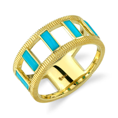 Sloane Street 18K Yellow Gold Turquoise Ring