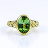 Alex Sepkus 18K yellow gold green tourmaline and diamond ring