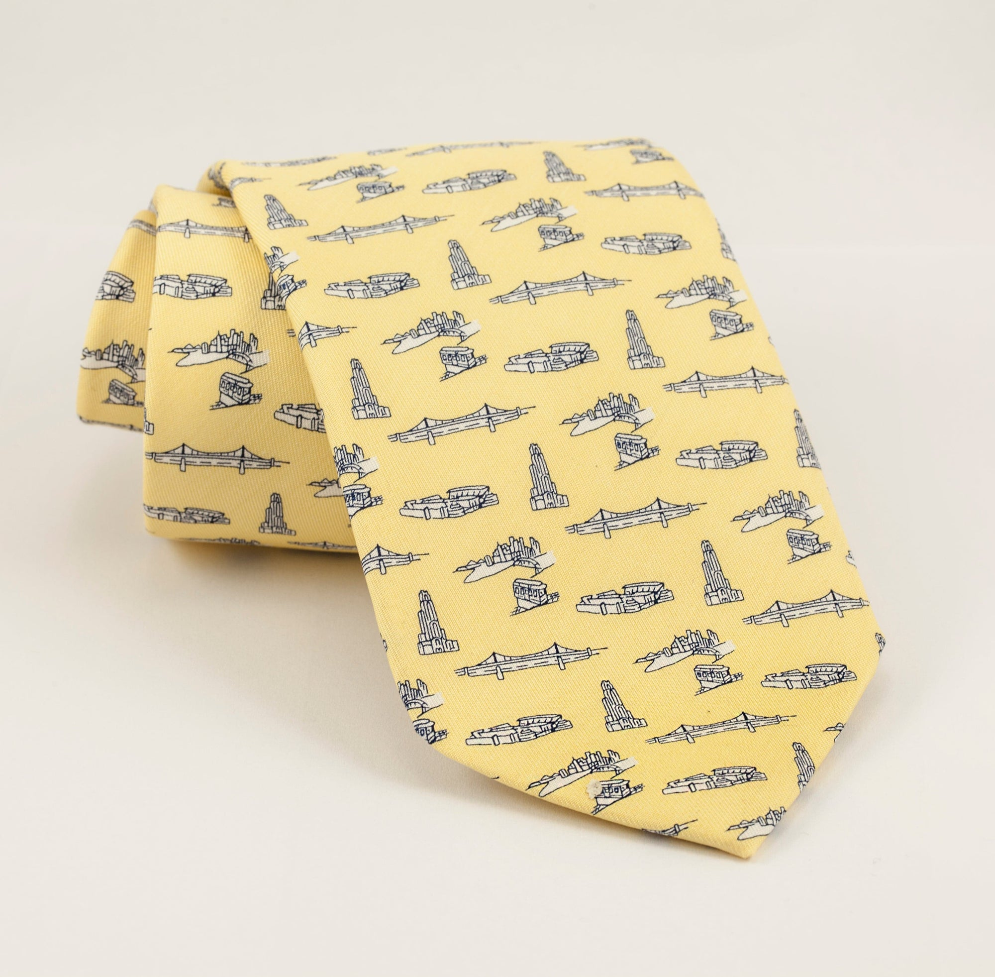 Boys' YELLOW PITTSBURGH-THEME TIE BY VINEYARD VINES