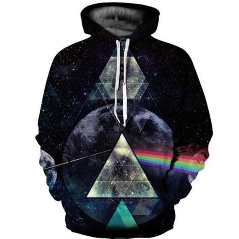 Light Refraction Rainbow Hoodie