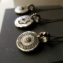 Moon pendant - black spinel