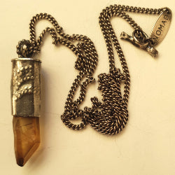 Water pendant - raw citrine crystal