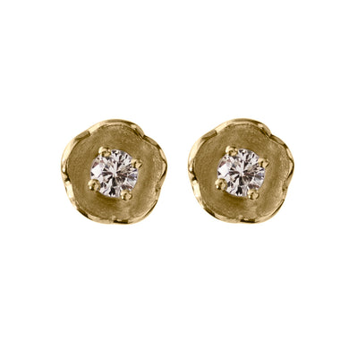 Afrodite - diamond flower studs