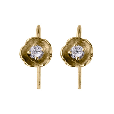 Afrodite - diamond flower earrings