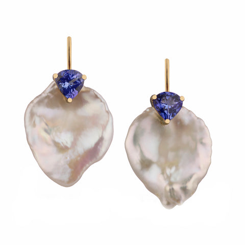 Mermaid Collection - Mermaid Tears set with Tanzanite