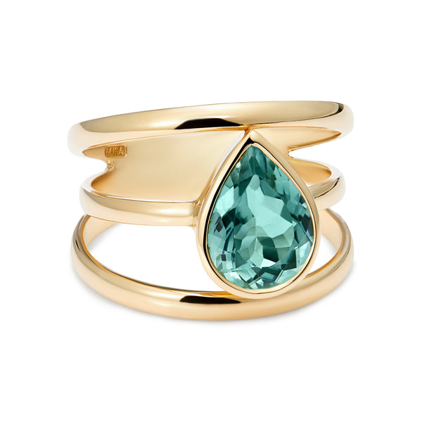 3 Way Ring - Mint Tourmaline Ring