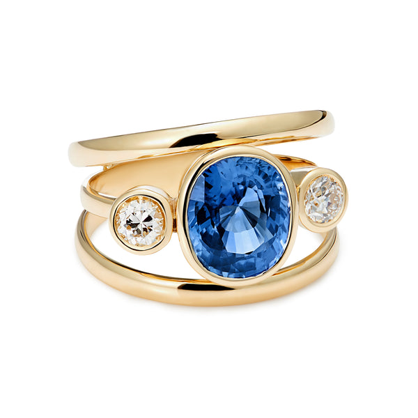 3 Way Sapphire and Diamond ring