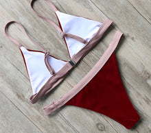 Red Velvet Bikini Set