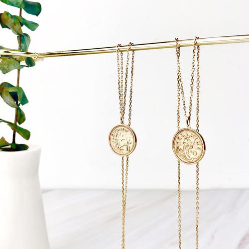 Zodiac Signs Coin Necklace