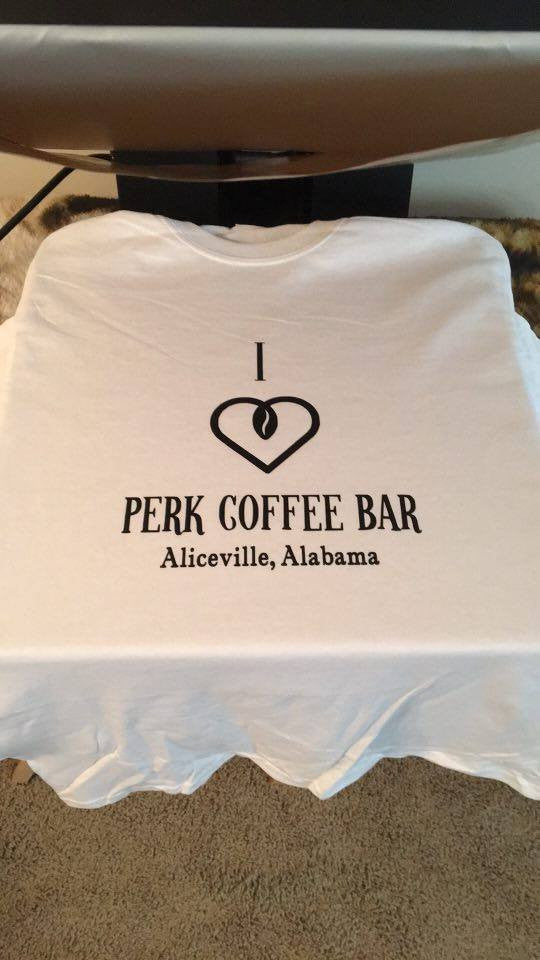 I love Perk Coffee Bar Tshirt