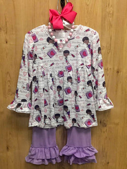 New 4pc Doc McStuffins outfit w/ accessories - 6/7