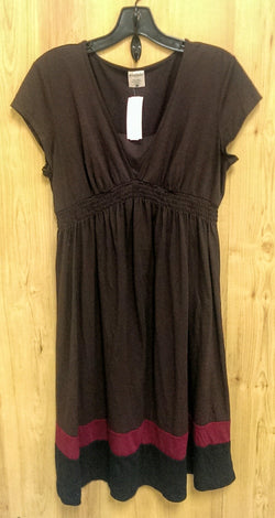 Motherhood brown maternity dress Large