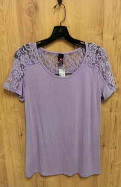 Pinc lavender maternity stretch top Large