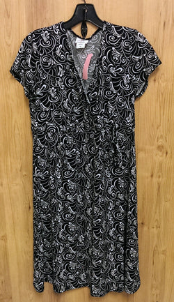 Oh Baby! Black & white maternity dress Medium