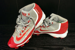 Nike Huarache red/gray baseball cleats - 8