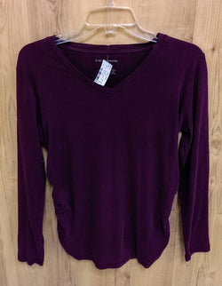 Liz Lange purple long sleeve maternity top - Medium