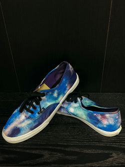 Vans canvas galaxy shoes - M7 W8½
