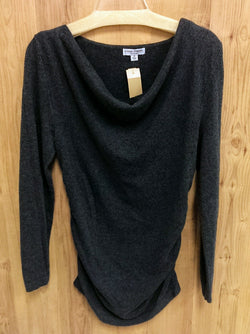 Liz Lange gray long sleeve slouch neck thin maternity sweater - Med