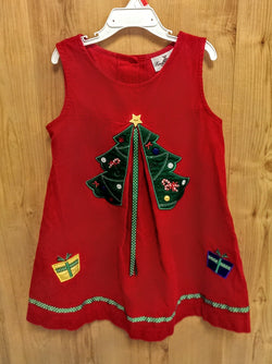 Rare Editions sleeveless corduroy Christmas dress - 6