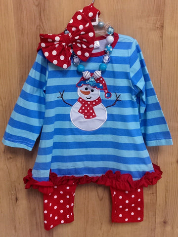 New Snowman 4pc outfit W/ ACCESSORIES! - various sizes