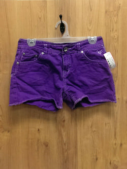 Justice Simply Low purple denim shorts - 16R