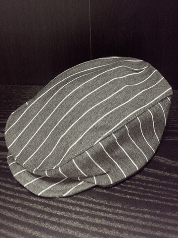 New Pinstripe newsboy hat - infant