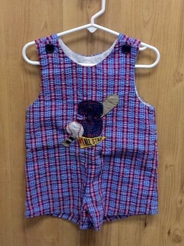 caf407b7ead0 Alexis baseball All-Star romper - 2T – Jelly Beans Consignment ...