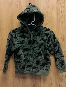 Falls Creek green dino zip hoodie / jacket - 2T
