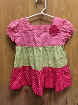 Gymboree pink/green top - 2T