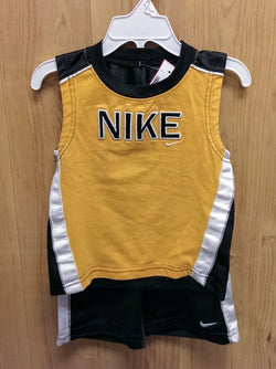 Nike yellow/gray 2pc tee/shorts outfit - 18mos