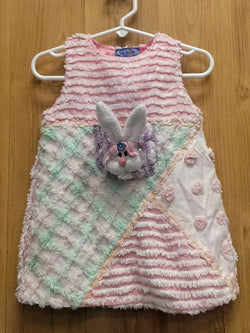 Chenille Creations fuzzy bunny dress - 2T