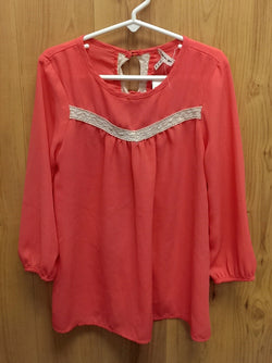 Monteau Girl coral top - 8