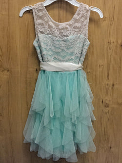 Rare Editions mint / lace dress - 7