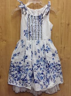 Emily West blue/white floral dress - 7