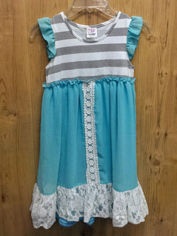 Mallory May blue/white/gray dress - AS-IS - 7