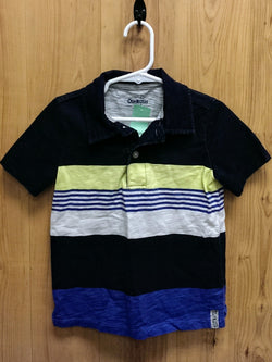 OshKosh navy/lime polo shirt - 4