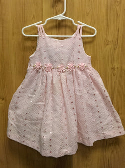 Bonnie Jean pink anglaise dress - 2T