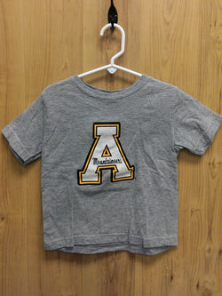 Softy gray Appalachian ASU logo tee - 2T