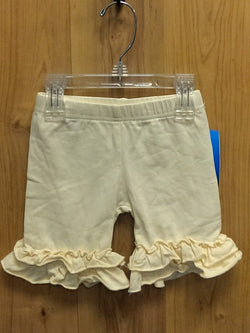 Ruffled icing shorts - pale yellow - 4T