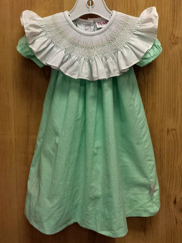 Posh Pickle green smocked dress - 18mos
