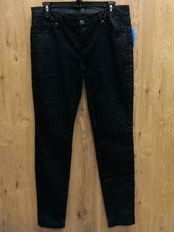 7 for all mankind 'The Skinny' charcoal denim jeans - 30 (measures 32)
