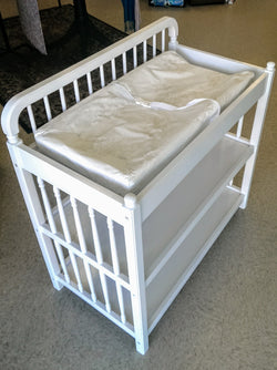 Solid wooden changing table - white
