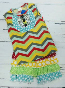 New multicolor 2pc outfit - various sizes