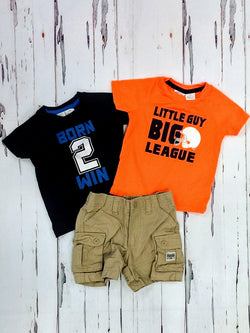 Kaola Kids 3pc tees / shorts outfit - 12mos