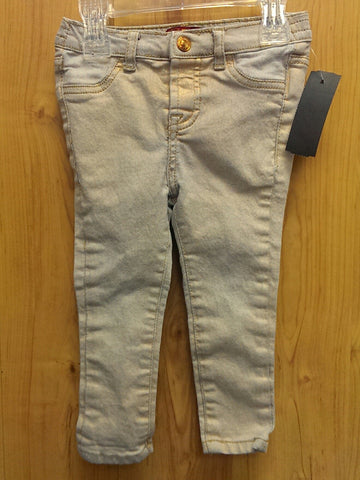 7 for All Mankind gold jeggings - 24mos
