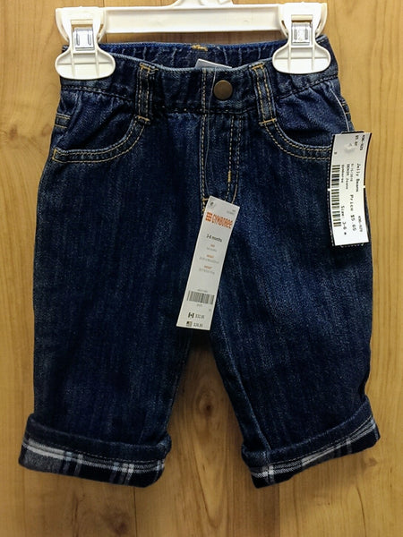 Gymboree NWT denim lined jeans - 3/6mos