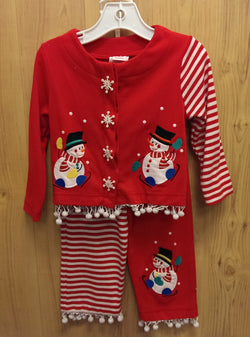 Molly & Millie 2pc snowman outfit - 3T