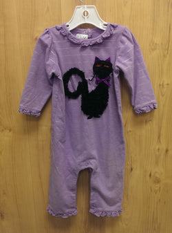 Mudpie black cat 1pc Halloween outfit - 9/12mos